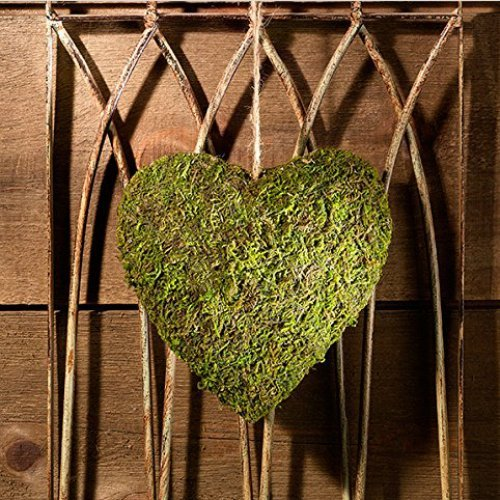 Wedding Reception Decor Hanging Moss Heart Decoration