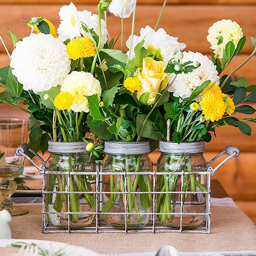 Wedding Reception Decor Vintage Mason Jar Set