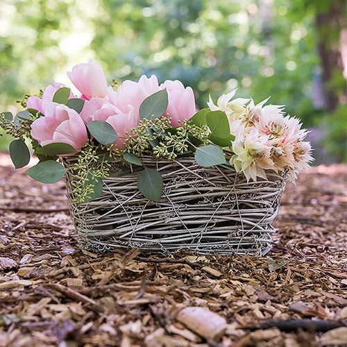 Wedding Reception Decor Wicker Basket