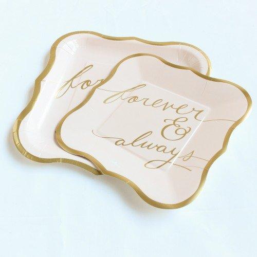 Forever & Always Blush Paper Plates