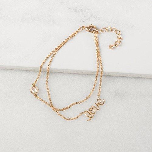 Bridal Shower Rose Gold Love Bracelet Gift Idea