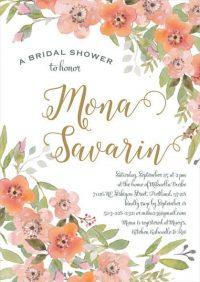 Rose Gold Bridal Shower Invitation Idea