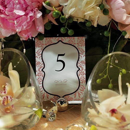 Personalized Damask Table Card Numbers