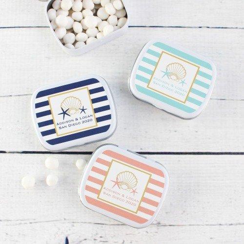 Personalized Mint Tins Seaside Wedding Theme Favor Idea