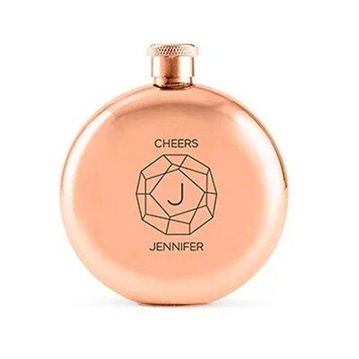 Rose Gold Flask Bridal Shower Gift Idea