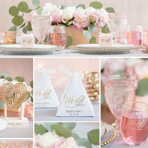 Pink & Gold Wedding Color Scheme