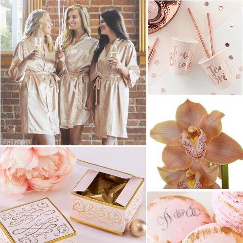 Rose Gold Bridal Shower Color Scheme