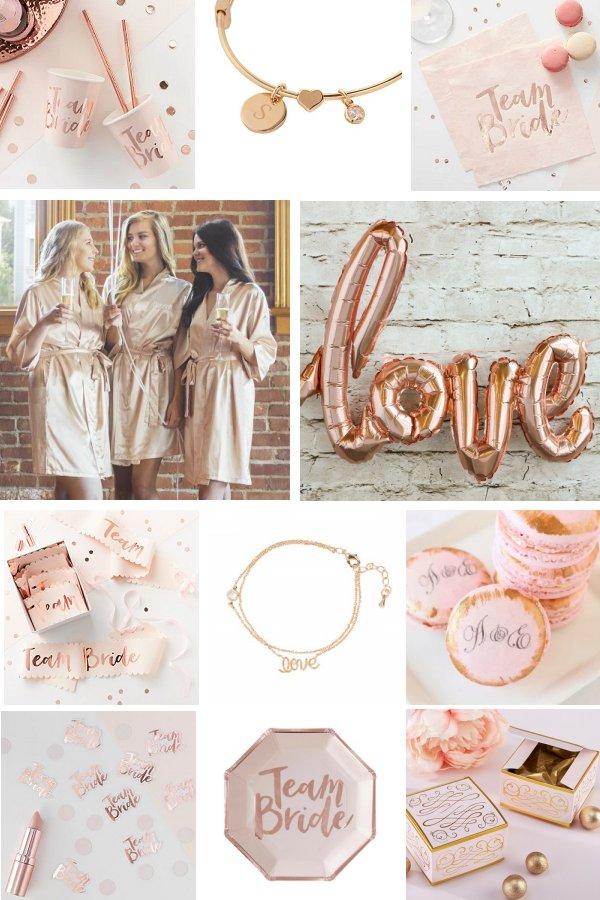 Rose Gold Bridal Shower Color Scheme Idea - WeddingConnexion.com