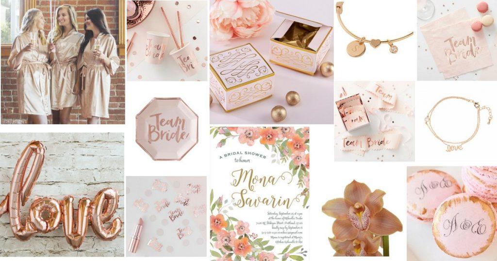 Rose Gold Bridal Shower Color Scheme Idea