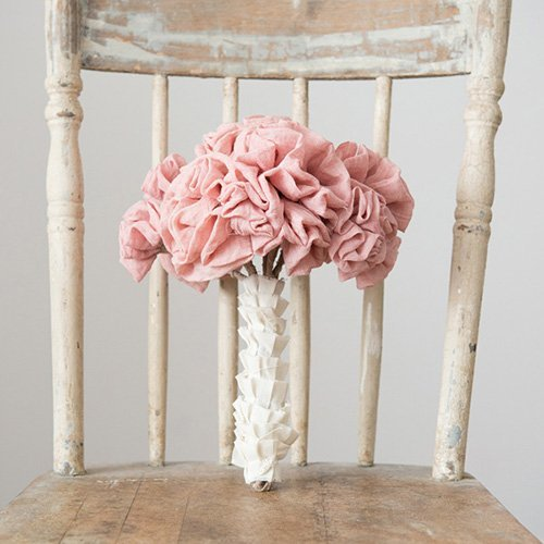 Single Stem Fabric Ruffle Wedding Flowers