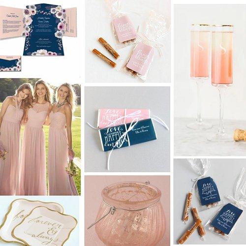 Soft Pink & Navy Blue Wedding Color Inspiration