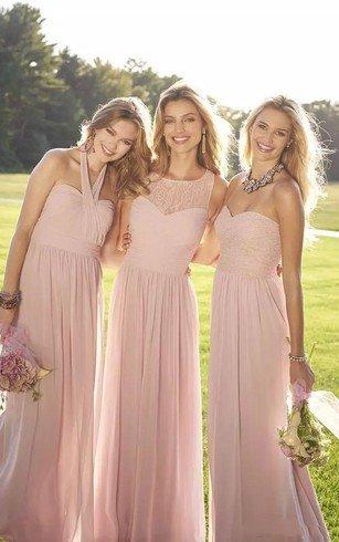 Sweetheart Floor Length Chiffon Bridesmaid Dresses