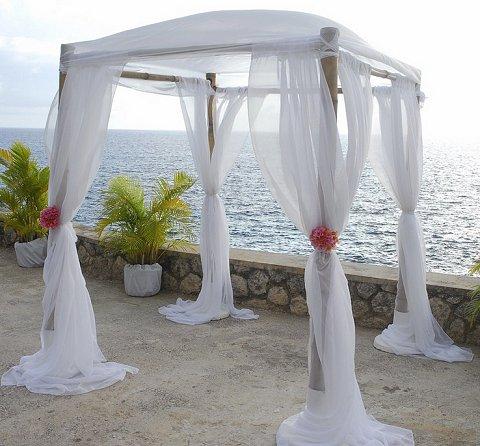 Catcha Falling Star Ocean Front Wedding Ceremony Negril, Jamaica