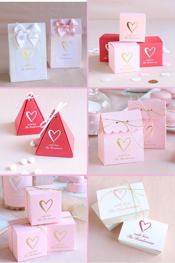 Classic Heart Wedding Theme Favor Boxes - WeddingConnexion.com