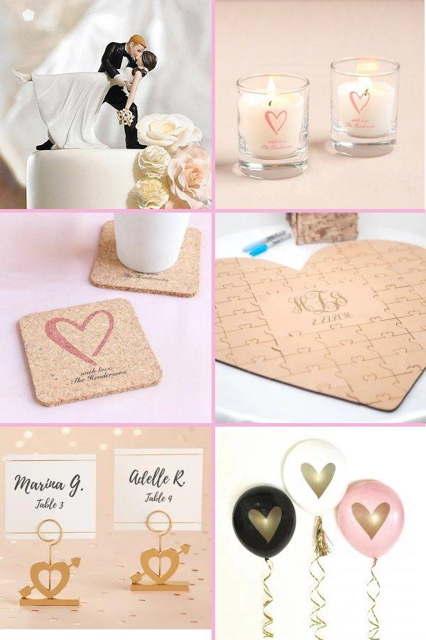Classic Heart Wedding Theme Reception Decor - WeddingConnexion.com