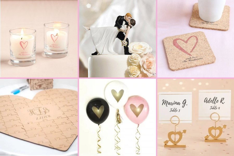Classic Heart Wedding Theme Decor Ideas