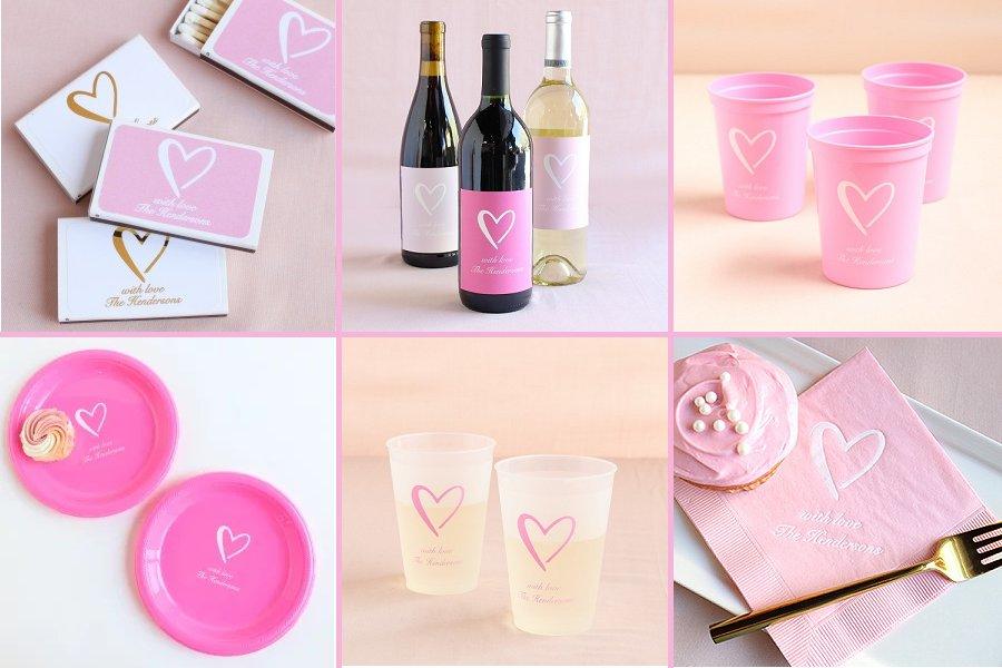 Classic Heart Wedding Theme Reception Supplies