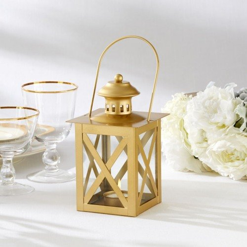 Gold Metal Lantern Seaside Wedding Theme Decor