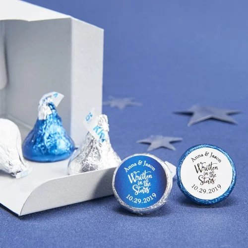 Personalized Hershey's Chocolate Kisses Wedding Favors