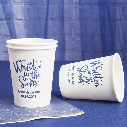 Personalized Paper Cup Wedding Suppliess