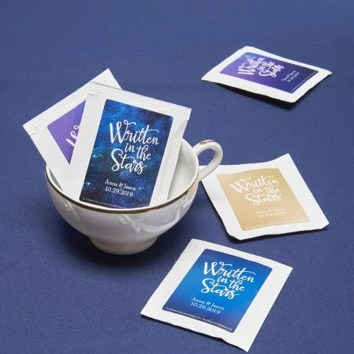 Personalized Tea Bag Wedding Favors