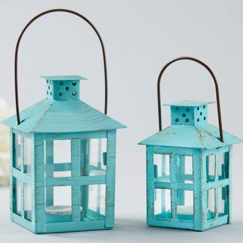 Seaside wedding theme tealight holder lanterns