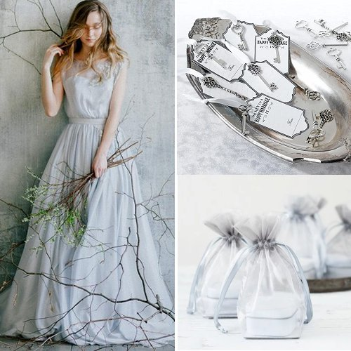 Silver Grey Wedding Color Scheme