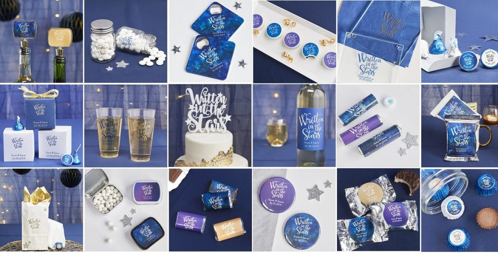 'Written In The Star' Wedding Theme Favors and Supplies