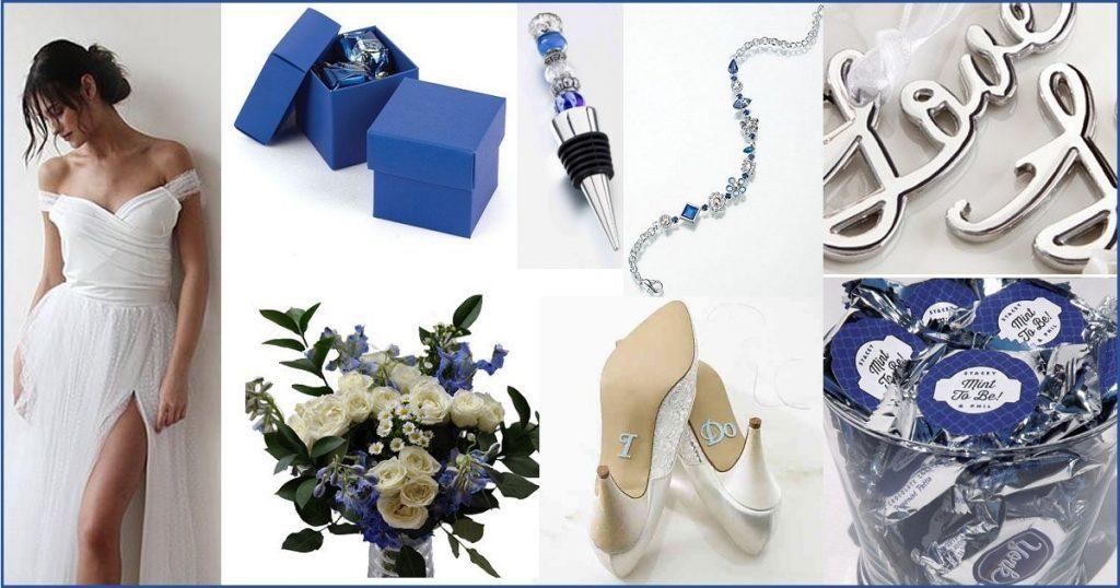 Blue & Silver Wedding Color Scheme