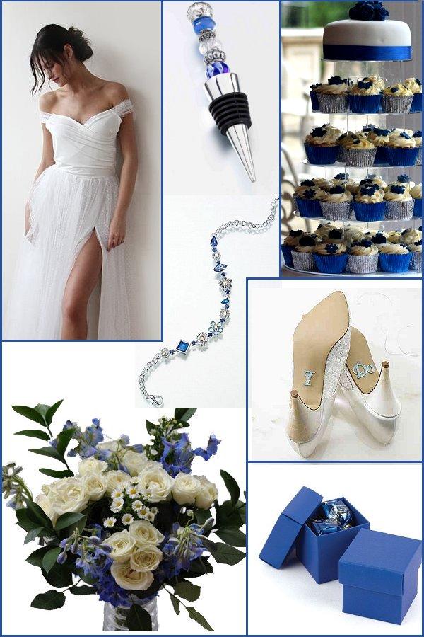 Blue and Silver Wedding Color Scheme Ideas _ WeddingConnexion.com