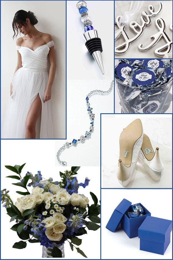 Blue and Silver Wedding Color Scheme - WeddingConnexion.com