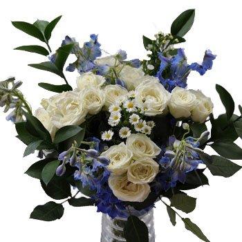 Blue Bridal Flower Centerpiece