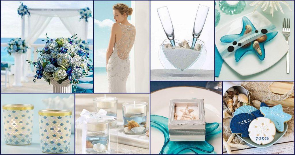 Blue and Dreamy Beach Wedding Theme – Elegant Wedding Ideas