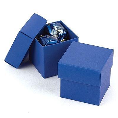 Blue Square Wedding Favor Boxes