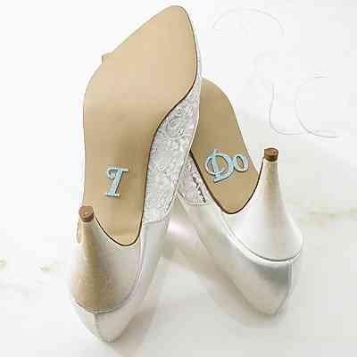 """I DO"" Wedding Shoe Stickers"