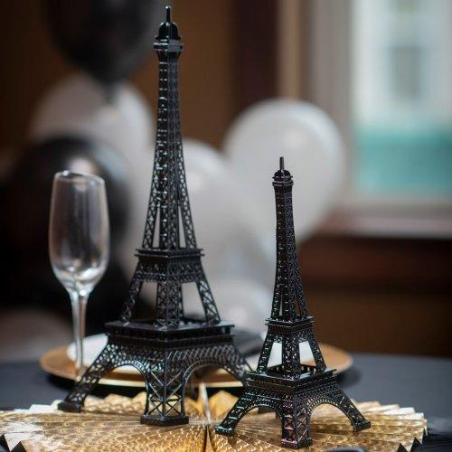 Parisian Chic Bridal Shower Black Eiffel Tower Centerpiece