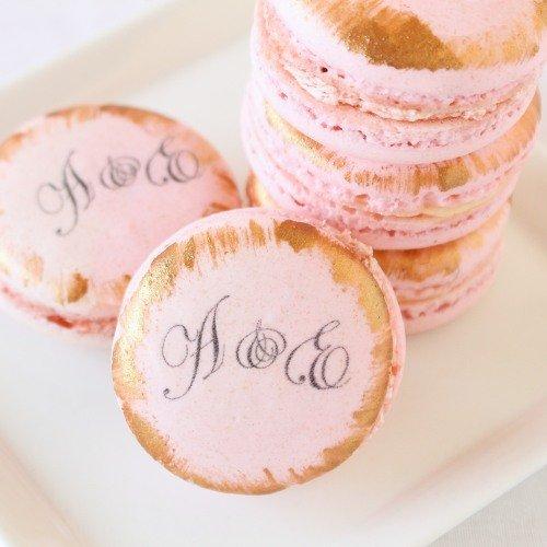Parisian Chic Bridal Shower Custom Macarons