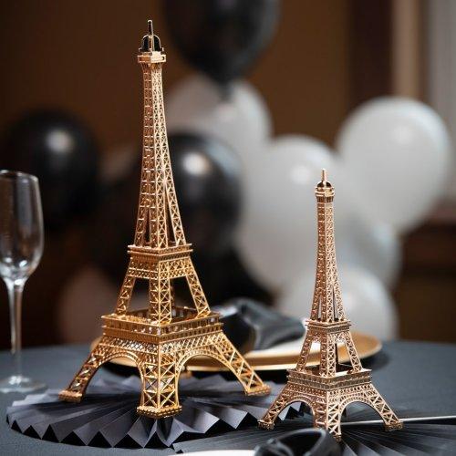 Parisian Chic Gold Eiffel Tower Centerpiece