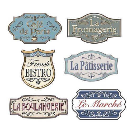 Parisian Chic Bridal Shower Market Sign Cutouts