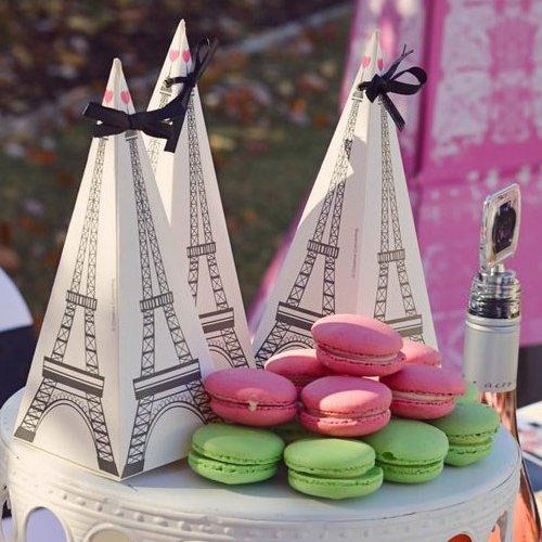 Parisian Chic Bridal Shower Party Treat Boxes