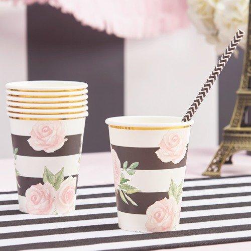 Parisian Chic Bridal Shower Theme Party Paper Cups