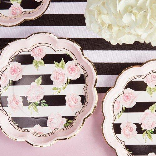Parisian Chic Bridal Shower Theme Party Paper Plates