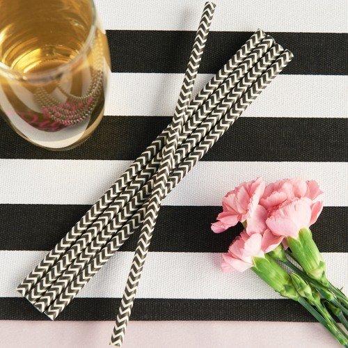 Parisian Chic Bridal Shower Theme Party Paper Straws
