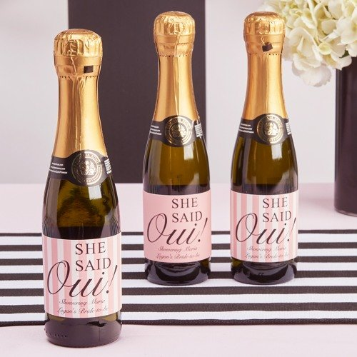 Parisian Chic Bridal Shower Theme  Personalized Wine Bottle Labels