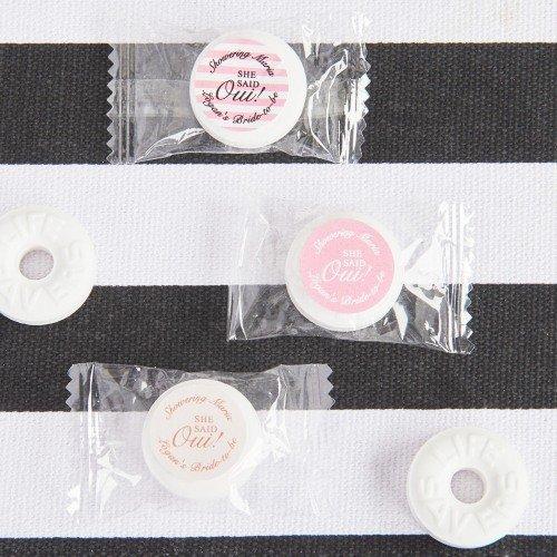 Parisian Chic Bridal Shower Life Saver Candy Favors