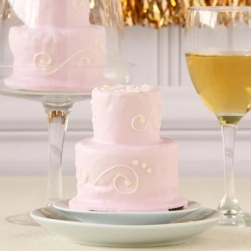 Parisian Chic Bridal Shower Theme Personalized Two Tier Cake