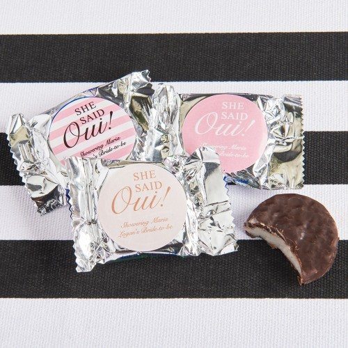 Parisian Chic Bridal Shower Personalized York Peppermint Patty Favors
