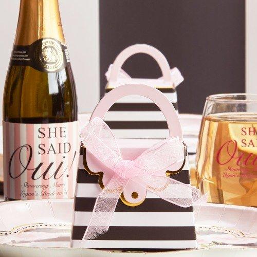 Parisian Chic Bridal Shower Purse Favor Box Favors