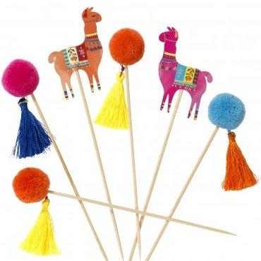 Boho Fiesta Bridal Shower Theme Llama Pom Pom Picks