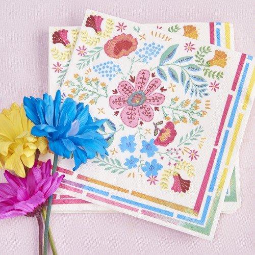 Boho Floral Party Napkins